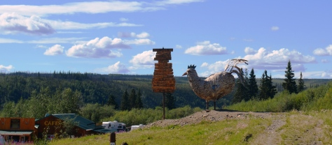 Chicken statue in Chicken, Alaska