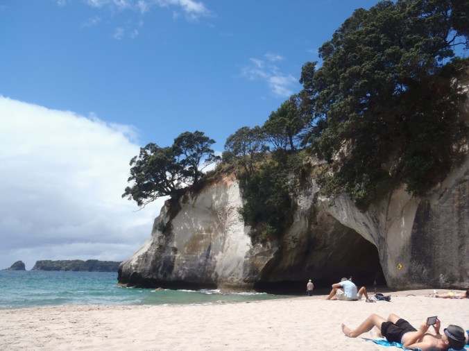 The beach from Cathedral Cove
