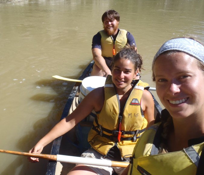 The three of us on our final day on the river!