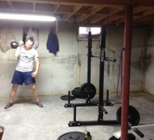 Doing the lifting thing again, love the basement gym!