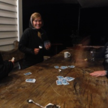 Play cards, drink beer, take advil. Repeat again tomorrow.