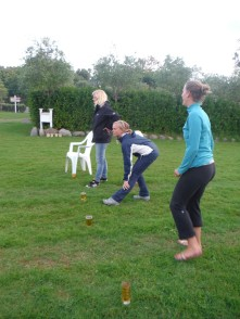 """The girls team for """"Flunkyball"""" - Possibly the greatest drinking game ever."""
