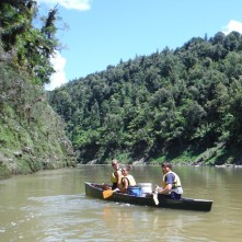The infamous Green Submarine on the Whanganui River