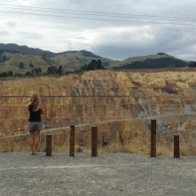 "Lindsay looking at the ""pristine New Zealand environment"""