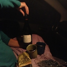 The bottle of wine cost what a night in a hostel for two would... we chose the wine and slept in the car!