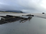 A shipwreck from the 1890s. You can see the boiler in the distance.