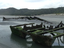The hull of an 100+ year old shipwreck.
