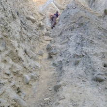 It became quite steep...