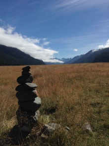 Looking up towards Milford Sound