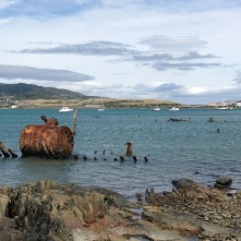 The boiler of a shipwreck