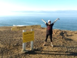 Standing at the furthest south point of NZ