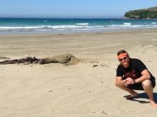 Posing with my Sea Dustin friend