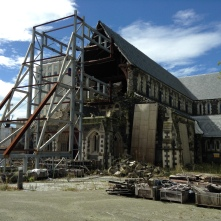 The Christchurch Downtown church three years after the 2011 Earthquakes.