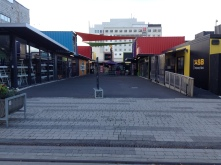 The downtown of Christchurch was destroyed so they build a shipping container shopping village. Very cool!