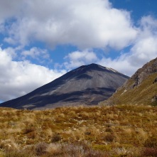 Mount Ngauruhoe. Mount Doom. Blue skies. 360 degree views that we didn't see.