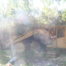 Clay playing on an abandoned excavator. Why? Why not.