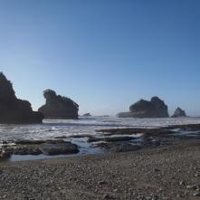 Looking back at the Morekai Rocks.