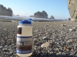 """Artistic"" shot of a well traveled water bottle..."
