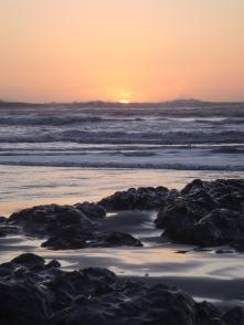Sunset at the Morekai Rocks