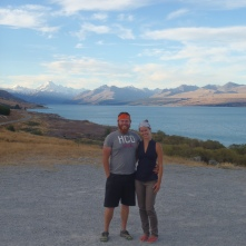Lindsay and I on our way to Mt Cook National Park