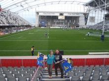 Lindsay and I before an Australia/NZ Super Rugby Game