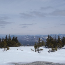 Whitecap Mountain, looking down towards Andover and the Maine section of the AT