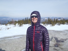 Lindsay after snowshoeing to the top of Whitecap Mountain