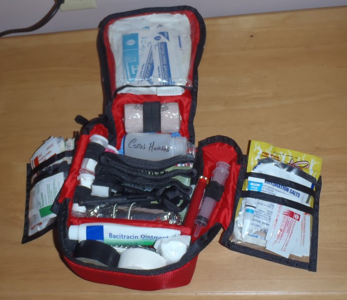 First Aid Kit, I probably went a little overkill on this, it's the Army in me.