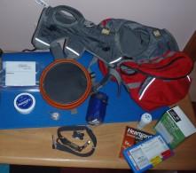 Hunters equipment for his Appalachian Trail Hike