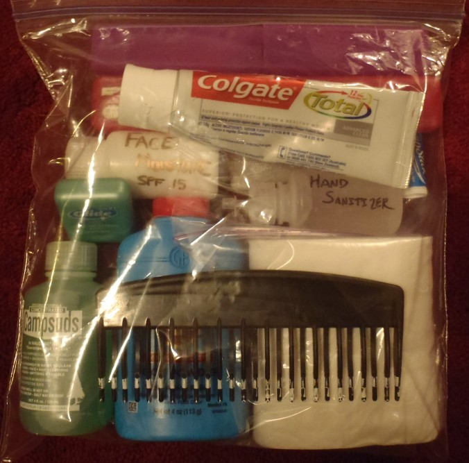Everyday hygiene kit, toothpaste and toilet paper!