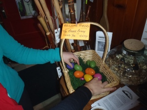 We even had a hiker Easter basket in Hiawassee!