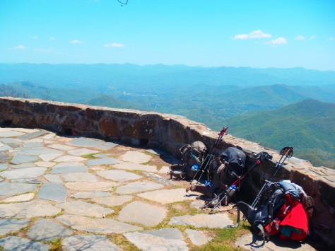 The view off of Wayah Bald in North Carolina