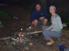 """""""The Fat Kids"""" roasting some marshmallows at camp one night!"""