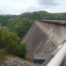 Crossing Fontana Dam and entering the Smokies