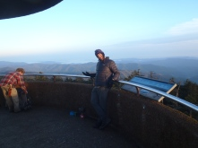 """'Chef/That's What She Said"""" posing on Clingman's Dome"""