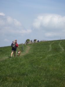 Hiking up the the summit of max patch