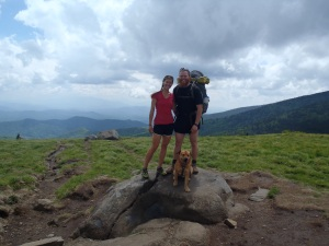 Posing for a nice shot on top of the balds after Roan Mtn.