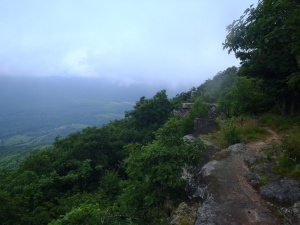 Walking along the Tinker Cliffs