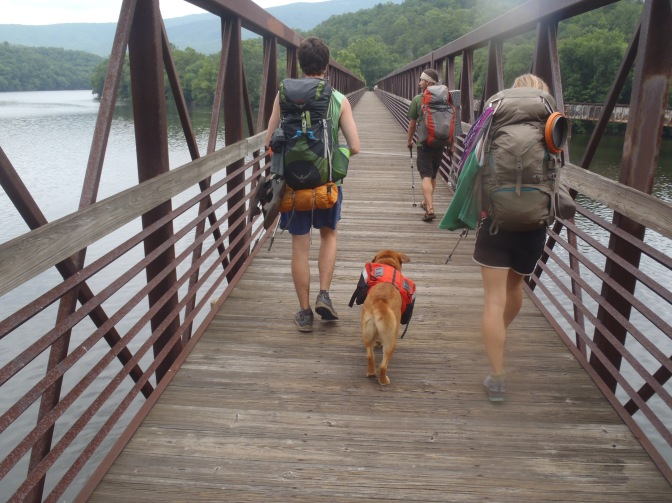 The Broken Fat Kid (Lindsay), Turtle and Fern Gully cross the James River Bridge
