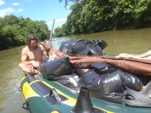 Drinking, floating and backpacks shoved into trashbags. What could possibly go wrong?!