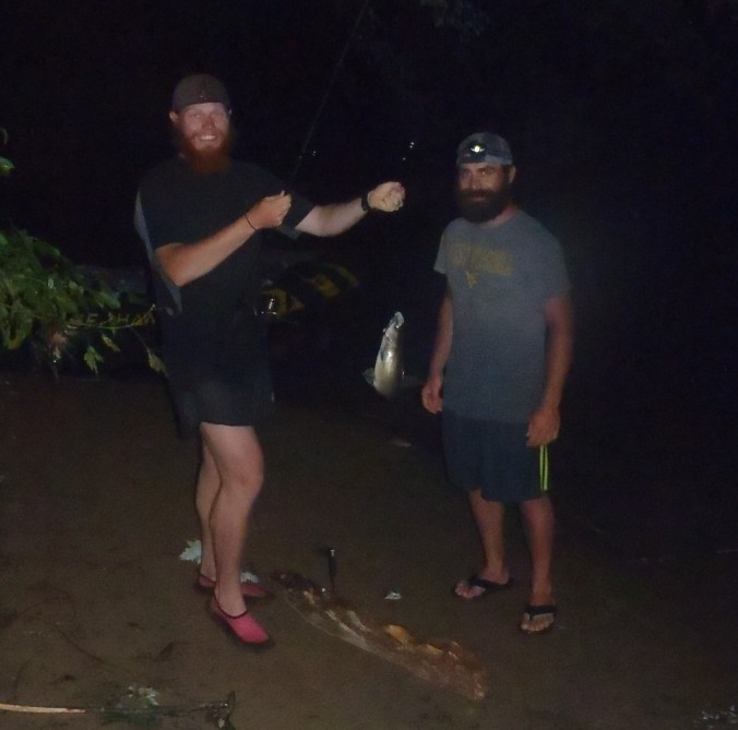 The Ginger Fat Kid (Clay) and Bullfrog do some late night catfishing.
