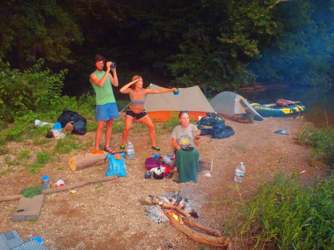 The gypsy crew camping out on our last night on the Shenandoah River