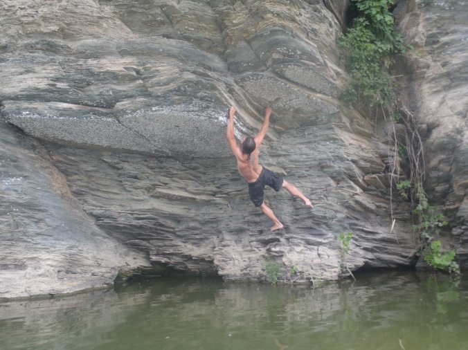 Fern Gully, doing a little rock climbing before we finished our river trip.