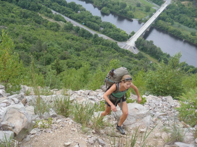 Lindsay kicking ass up the Lehigh Gap