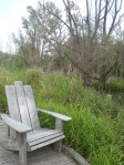 Some nice seats on a boardwalk in New York... the things you find on the AT!