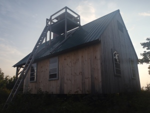 Our viewing platform for a Green Mountain sunset