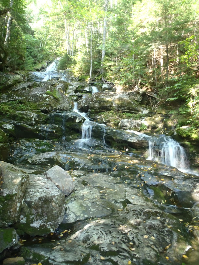 Waterfall and lunch break location on the north side of Mt Moosilauke