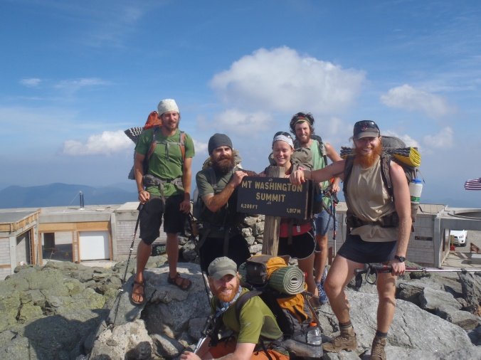 The Crew at the top of Mt Washington