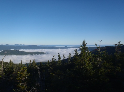 The view on our final morning in the White Mountains from the top of Carter Mountain