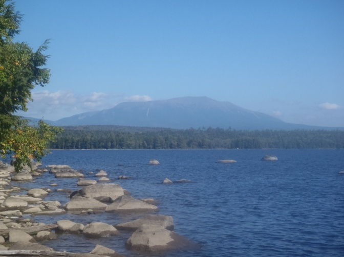 Mt Katahdin, two days of hiking from the peak.